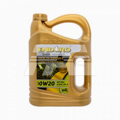 Enduro Lubricant Engine Oil Fully Synthetic SAE0W20 API SN/ILSAC GF5 4Liters